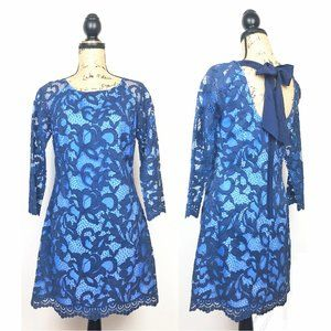 Lilly Pulitzer Aaliyah Blue Tie Back Lace Dress 4